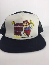 Super Mario Bros Nintendo Hat Authentic 1988 Vintage Snap Back Cap
