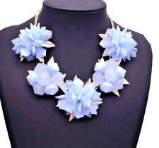 Absolutely Fabulous Stunning Zara Pale Bluel 3D Statement Necklace