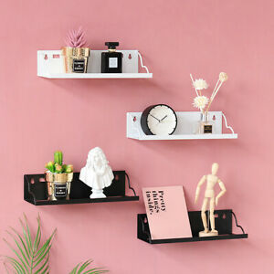 DIY Floating Rack Shelf Wall Mount Storage Iron Hanging Decor Book Display -) *