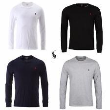 Men's Polo Ralph Lauren Long Sleeve Crew Neck T-Shirt Top Quality BNWT