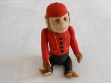 "Antique Schuco Mohair Yes/No Monkey Felt German Bellhop Vintage 12 "" Tall - Old"