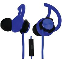 ECKO EKU-ROG-BL Rogue Hybrid Earbuds with Microphone (Blue) with travel case