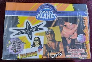 1999 WCW Crazy Planet stickers and tattoos.48 packs in factory sealed box WCW