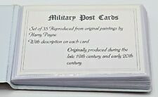 35 Military Post Cards reproduced from original paintings by Harry Payne