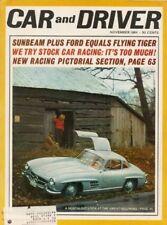 CAR & DRIVER 1964 NOV - SUNBEAM TIGER, COTTON OWENS, ISLE OF MAN