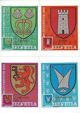 SUISSE - 4 CARTES MAXIMUM NEUVES - PRO JUVENTUTE 1981