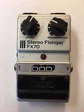 DOD Digitech FX70 V1 Stereo Analog Flanger Rare Vintage Guitar Effect Pedal