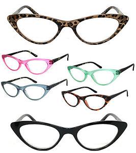1 or 3 Pair(s) Retro Woman Cat Eye Full Lens Reading Glasses Spring Temple