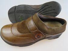 DANSKO Kaya Brown Leather Button Clogs Mules Slip-On Shoes Women EU 39 US 8.5/9