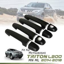 COVER DOOR HANDLE MATTE BLACK 4DRS TRIM FIT FOR MITSUBISHI TRITON L200 2014-2018