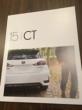 2015 Lexus CT 22-page Original Sales Brochure