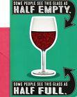 Funny Happy Birthday Wine Glass Half Empty So Refill It  Hallmark Greeting Card