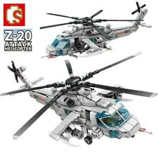 953Pcs Military Army Z-20 Helicopter Building Blocks DIY Bricks Toys Kids Gift