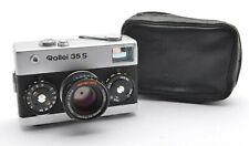 Rollei 35 s buscador cámara cromo, Hft sonnar 2,8/40 mm compacto top + case m01