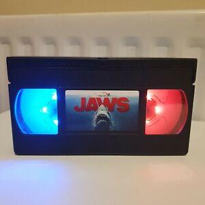 Jaws Handmade LED VHS Tape Lamp Birthday Gift Present Retro Light Custom 70s 80s