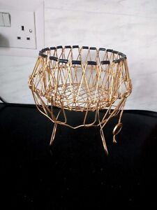 Vintage Metal Wire Egg Basket, French, Erdecor Marque, Home Decor, Kitchenalia
