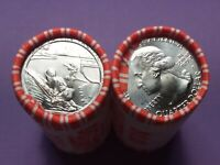 """(1) 2019-D ATB War in the Pacific National Hist. Park BU Quarter Roll """"W""""??    a"""