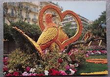 Carte postale MENTON  Fete du citron coeur colombes an agrumes  postcard