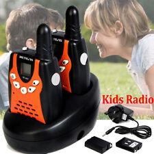 Kids Toys Retevis RT602 8Channel w/Rechargeable Battery Walkie Talkie Orange