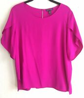 Eileen Fisher Womens Blouse Purple Pink Size Small S/P Boat Neck Solid $288- 158