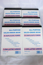 10 Pack Carbonless Sales Order Books Receipt Invoice Wholesale 50 Duplicate Form
