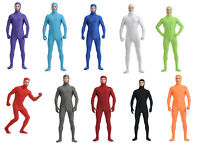 Adult Unisex Lycra Spandex Zentai Second Skin Costume Open Face Full Bodysuit