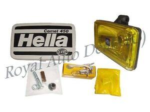 Hella Comet 450 Yellow 12v H3 Driving Spotlight/Fog Lamp For Cars,Jeep,4x4,SUV