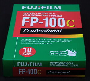Fujiflm FP-100C Instant Color Film for use with Polaroid Backs - New Old Stock!