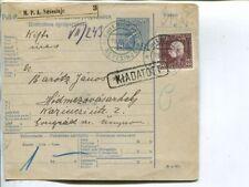 Bosnia and Herzegovina parcel card to Hungary 1915