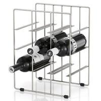 Blomus Weinflaschenregal Pilare für 9 Flaschen Stahl matt vernickelt 68487
