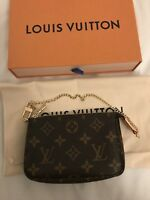 Brand New Authentic Louis Vuitton Mini Pochette Accessoires Monogram