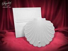 Faire Part mariage motif coquillage enveloppe inclus  x20 Pcs
