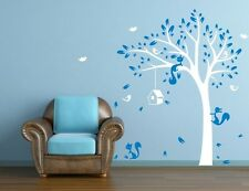 JUNGLE TREE BIRDS FOX 1.9M HIGH Wall Sticker Removable Quote Vinyl Art Decal DIY