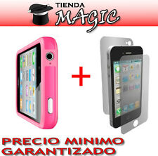 BUMPER compatible iPhone 4 + laminas PROTECTOR DE PANTALLA carcasa funda ROSA