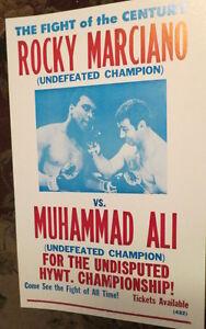 ROCKY MARCIANO VS. MUHAMMAD ALI BOXING FANTASY POSTER HEAVY WEIGHT CHAMPIONSHIP