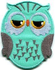 Owl bird of prey hoot animal wildlife applique iron-on patch new S-329