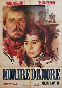 manifesto 2F film MOURIR D'AIMER - MORIRE D'AMORE Annie Girardot André Cayatte
