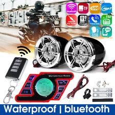 Waterproof bluetooth Amplifier Motorcycle Stereo Speaker TF MP3 FM Radio AUX New