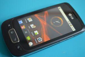 LG P500 - Black (Orange) Mobile Phone
