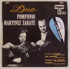 Duo Pomponio Martinez Zarate 45 Tours Teppaz 4569