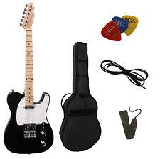 E-Gitarre TC-schwarz, Set mit  Tasche + Band + 3xPiks/Plektren + Anschlußkabel!n