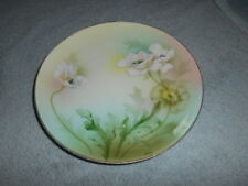 ( G8 ) ANTIQUE PLATE - RS GERMANY - WHITE  FLOWERS