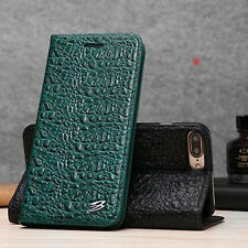 Crocodile Genuine Leather Wallet Case Cover For iPhone 11 12 Pro Xs Max 7 8+XR X