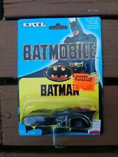 1989 Batman Vehicle Diecast Batmobile ERTL NEW *VERY CLEAN CARD* DC Comics
