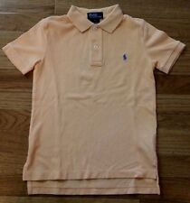 Ralph Lauren Boys Peach Short Sleeve Polo Shirt Size 5