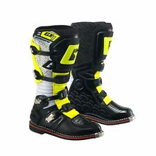 GAERNE GX1 WHITE/BLACK/YELLOW MX BOOTS  MOTORCROSS MOTO-X OFF ROAD BOOTS TRAIL