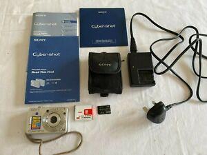 Sony Cyber-shot DSC-W70 7.2MP Digital Camera - Silver