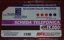 SUMMIT DELLA COMUNICAZIONE 1997 ( GOLDEN 635 ) / SCHEDA TELEFONICA TELECOM USATA