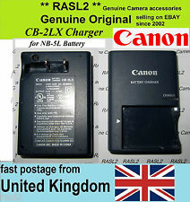 Genuino Canon charger,cb-2lx Ion Nb-5l Powershot S100 Sx230, Sx220 Sx200 Sx210 Is