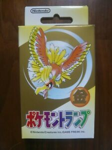 1 deck : Nintendo Poker Playing Cards 1999 - Pokemon (Gold : Ho-Oh) - Sealed New